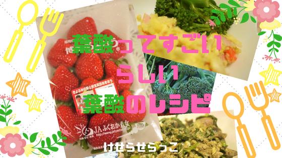 葉酸ってすごいらしい葉酸のレシピ