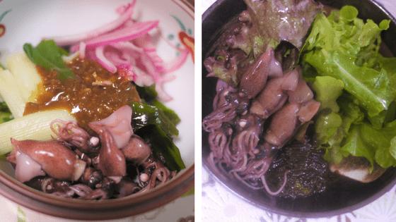 ゆでたホタルイカのレシピ